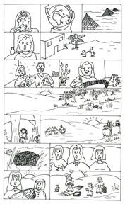 """... imprimir a história de Moisés em forma de """"história em quadrinhos"""